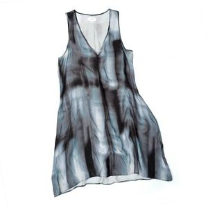 Lou & Grey Dyed Soft Sleeveless Black White Dress